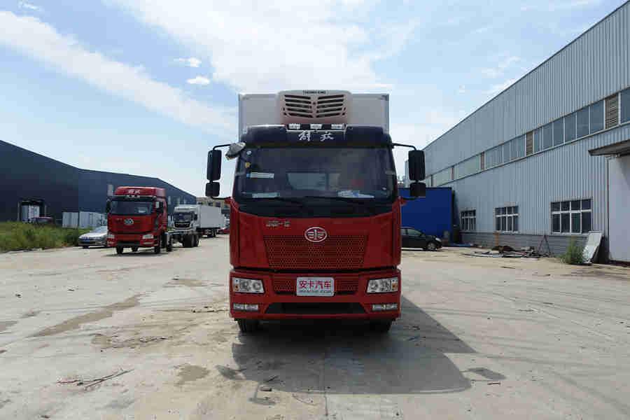 国五解放J6L240马力6.8米冷藏车价格|厂家