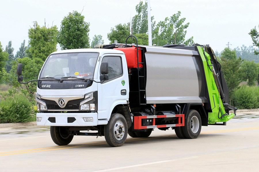 东风3吨压缩式垃圾车图片1