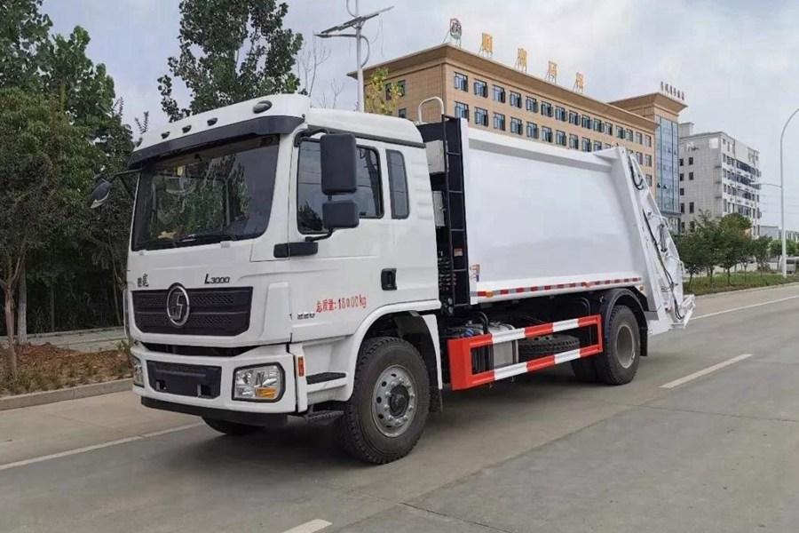 陕汽10吨压缩式垃圾车图片1
