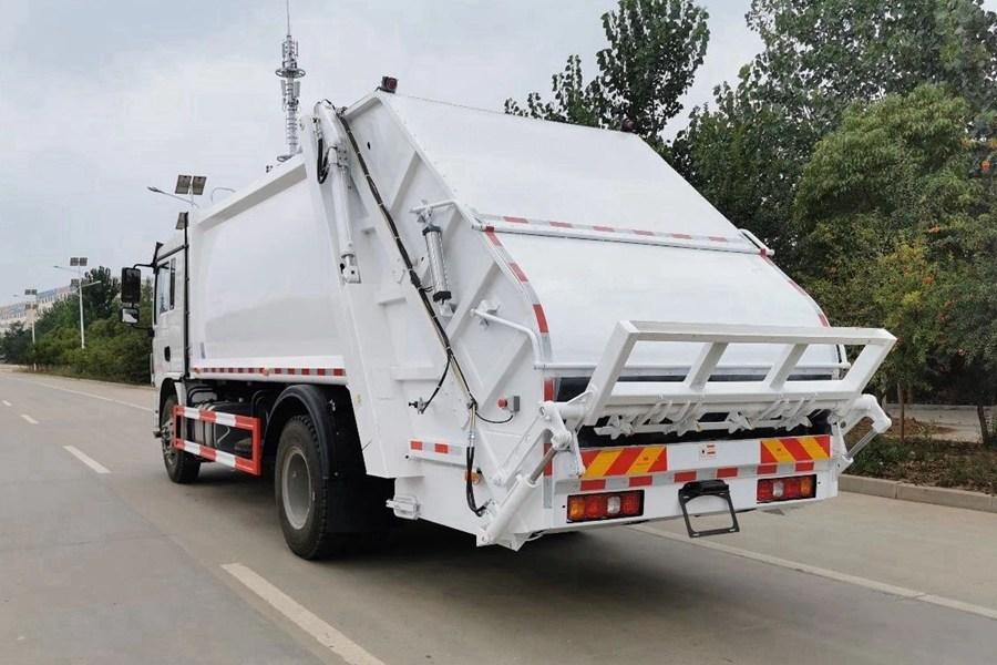 陕汽10吨压缩式垃圾车图片2
