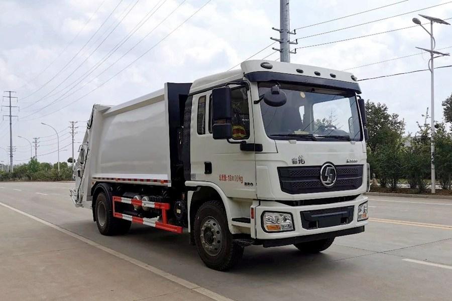 陕汽10吨压缩式垃圾车图片4