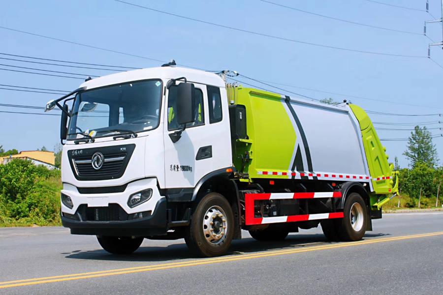 东风天锦18吨压缩式垃圾车图片1