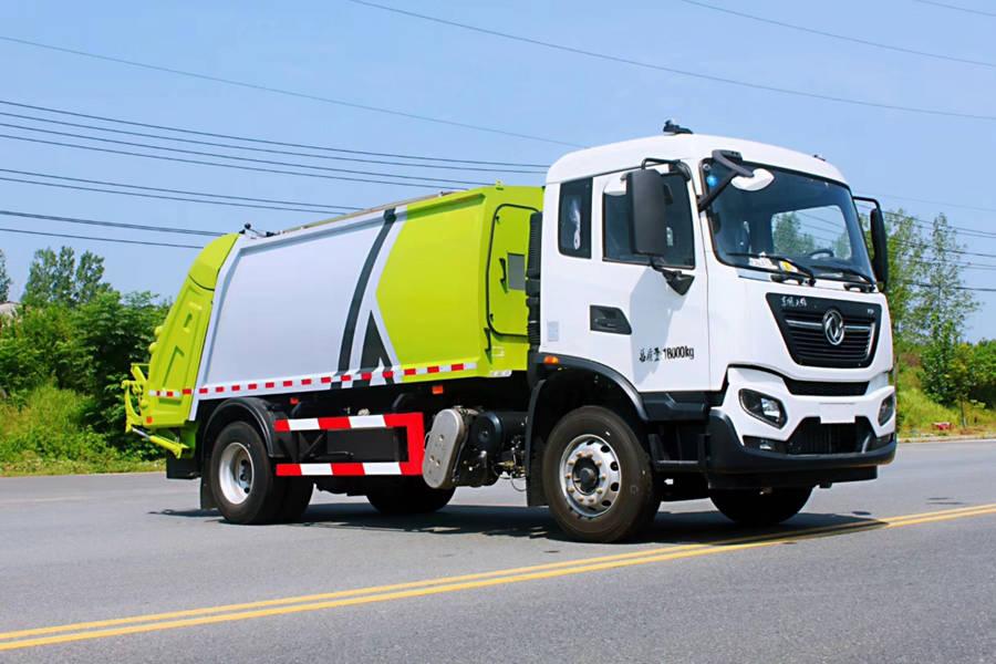 东风天锦18吨压缩式垃圾车图片4