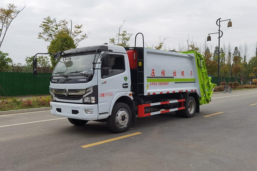 东风6吨压缩式垃圾车图片1