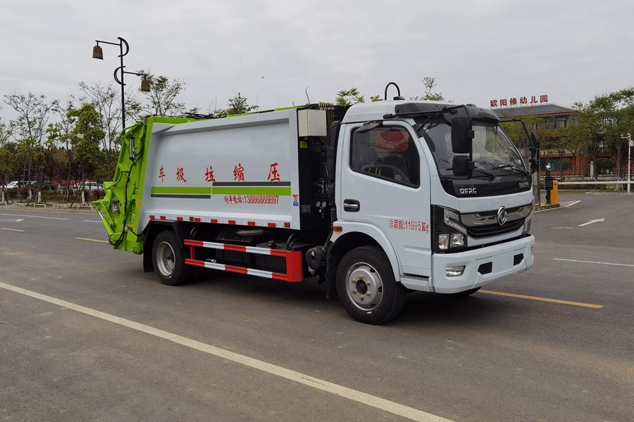 东风6吨压缩式垃圾车图片4