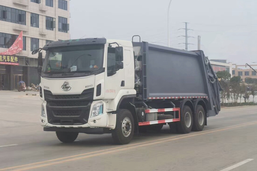 柳汽乘龙18立方压缩式垃圾车
