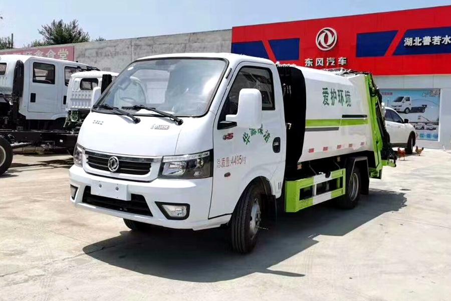 东风途逸2立方压缩式垃圾车