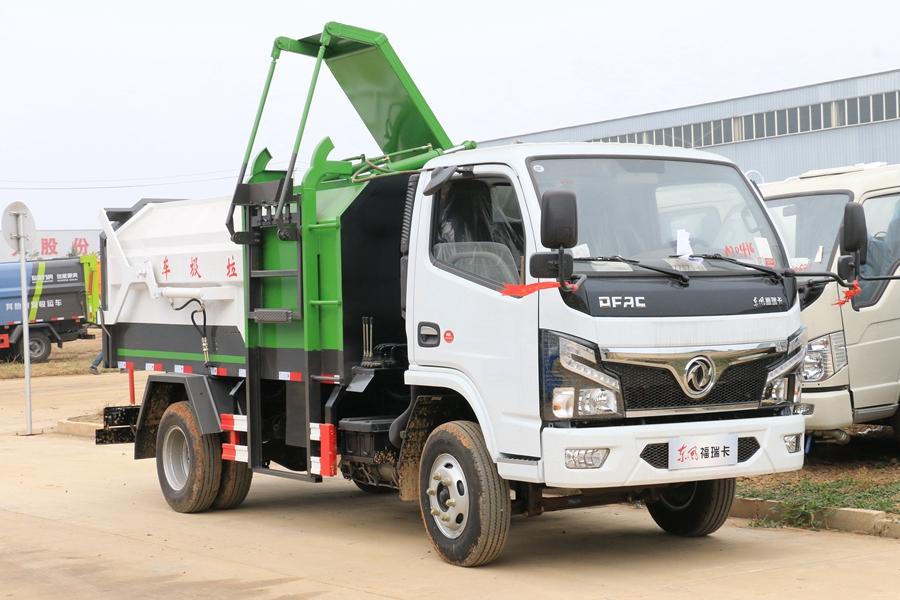 贵州东风多利卡D6挂桶7立方垃圾车