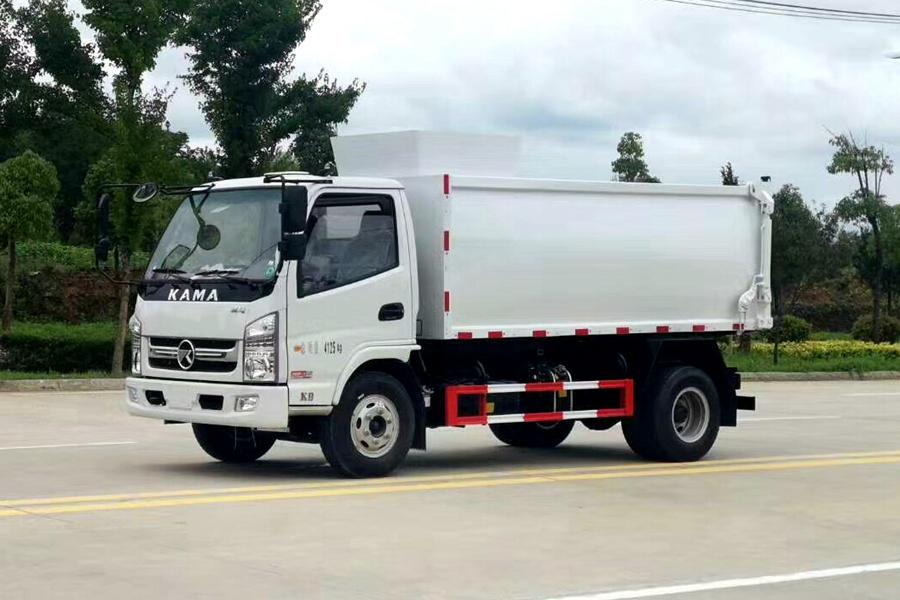 贵州凯马国六挂桶4方垃圾车