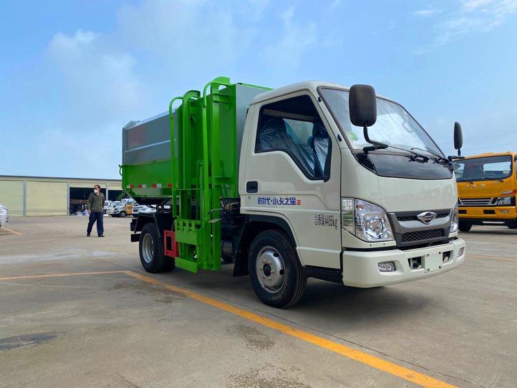 贵州福田小卡之星2挂桶5立方垃圾车