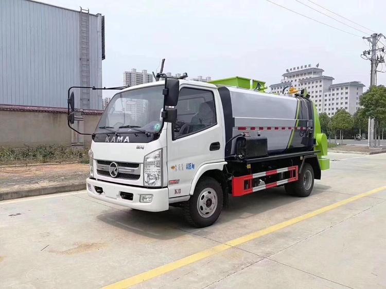 贵州凯马4立马国六蓝牌餐厨垃圾车
