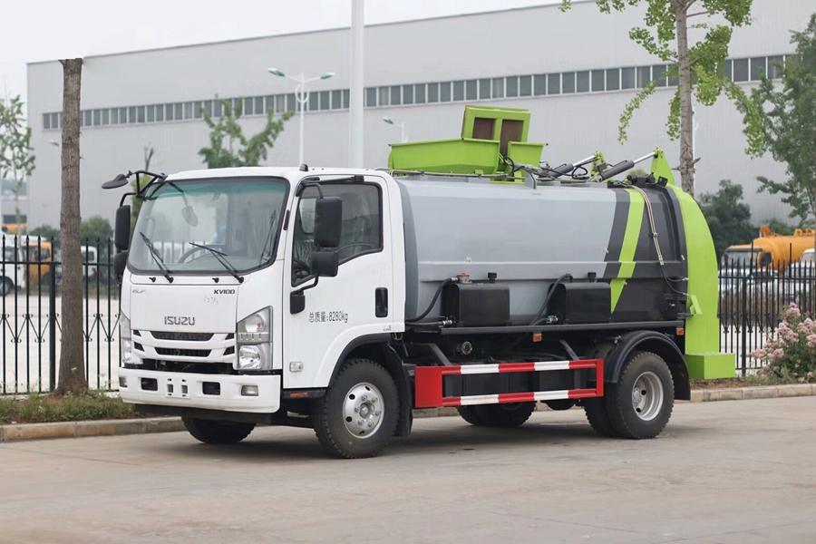 贵州五十铃8立方国六餐厨垃圾车