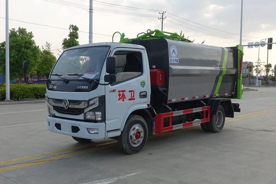 东风多利卡D6国六6方侧装压缩式垃圾车