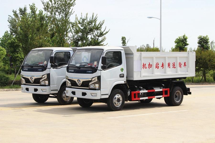 贵州东风多利卡5立方自卸式垃圾车