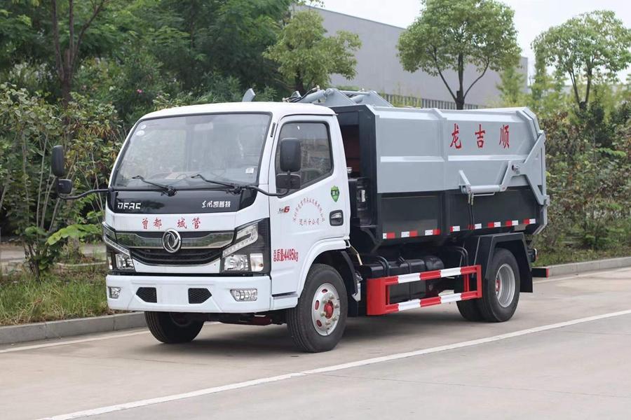 东风D6侧装压缩式对接垃圾车