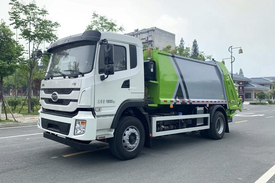 比亚迪12立方纯电动压缩式垃圾车