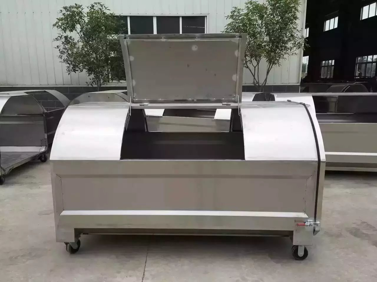 贵州3立方不锈钢勾臂垃圾箱