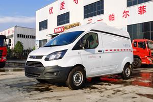 国六福特新全顺122马力柴油面包冷藏车