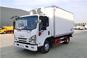 五十铃KLV100冷藏车4.2米蓝牌不超重厂家整车价格