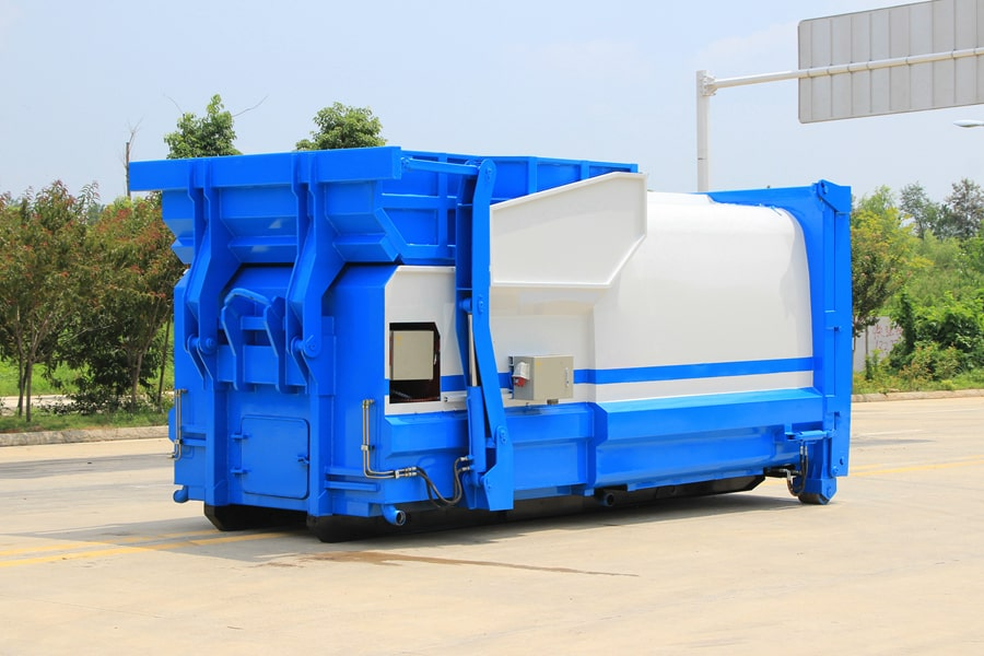 贵州18立方压缩式移动垃圾箱