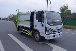东风多利卡蓝牌压缩式垃圾车