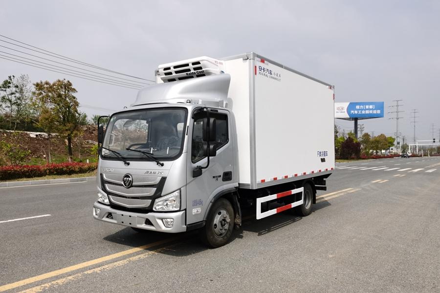 4.2米蓝牌轻卡冷藏车福田欧马可冷藏车厂家价格