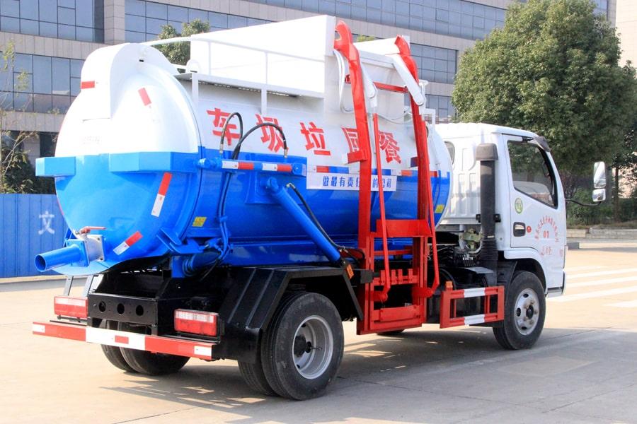 东风5方餐厨垃圾车(车头向右前45度)