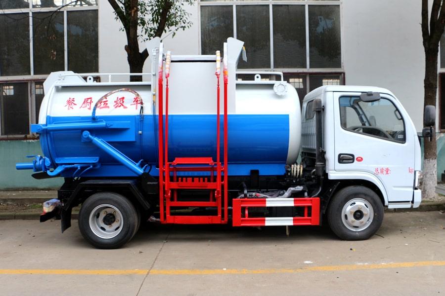 东风5方餐厨垃圾车(车头向左后45度)