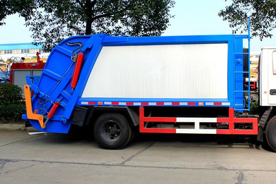 江铃6方压缩式垃圾车上装右侧图片
