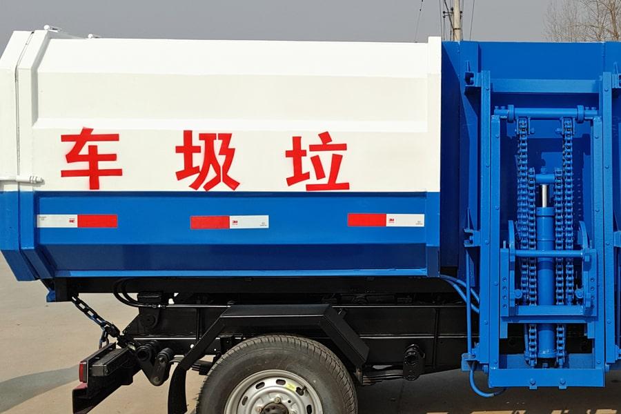 凯马3方挂桶式垃圾车上装箱体图片