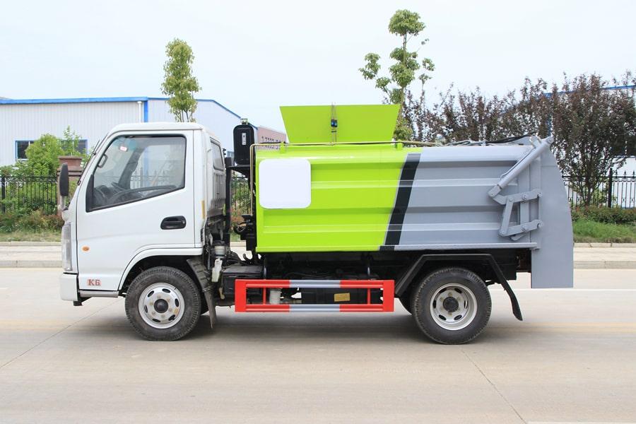 凯马3.5方餐厨垃圾车图片(车头向左正侧)