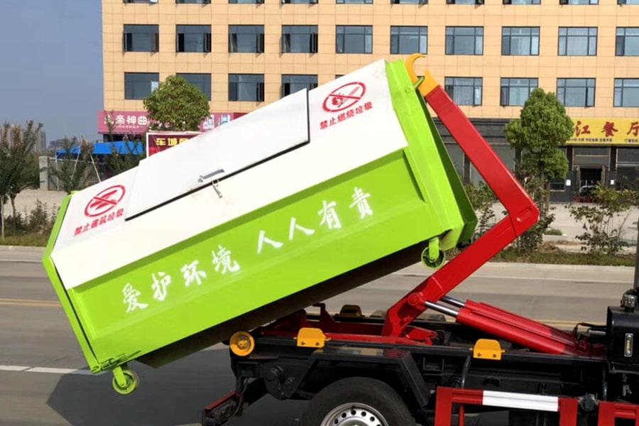 长安3方勾臂式垃圾车上装图片