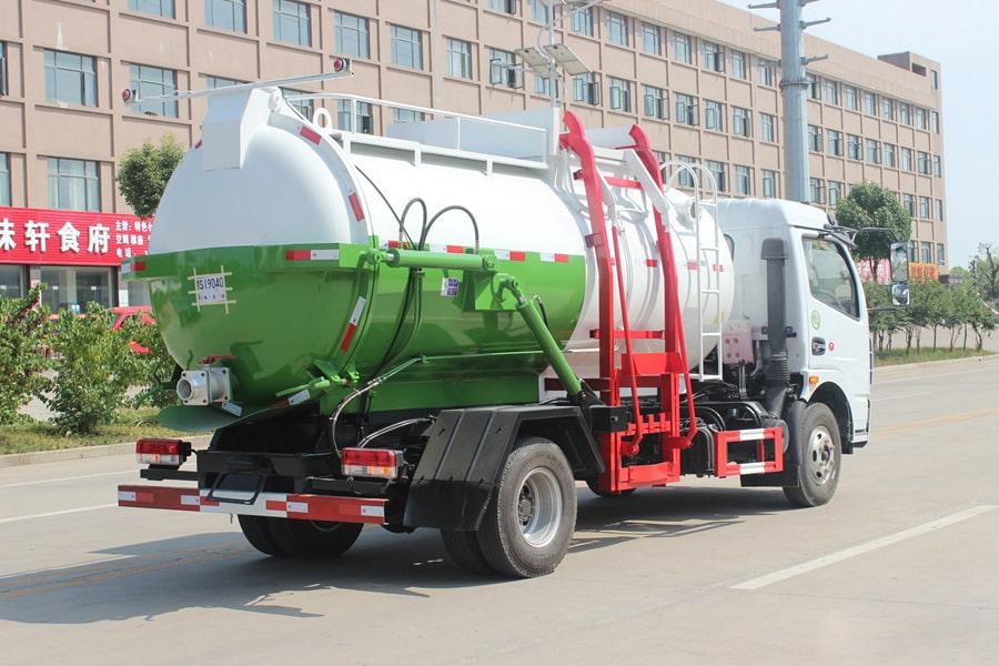 东风D7餐厨式垃圾车(右后侧图片)