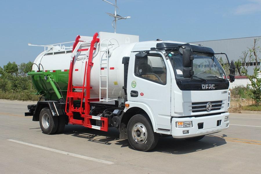 东风D7餐厨式垃圾车(右前侧图片)