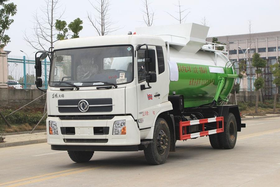 东风天锦餐厨式垃圾车左前侧图片
