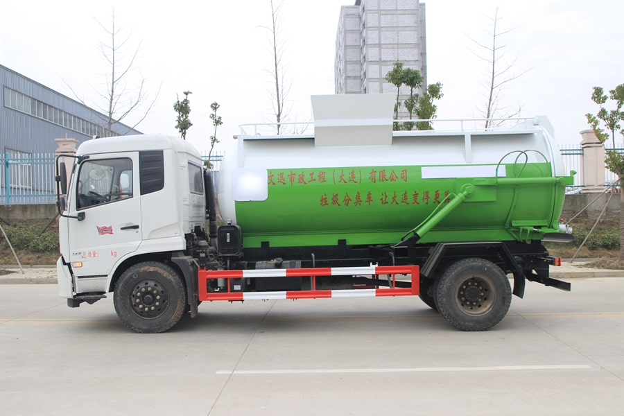 东风天锦餐厨式垃圾车左侧图片