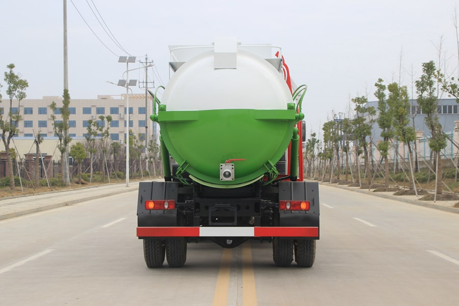 东风天锦餐厨式垃圾车后侧图片