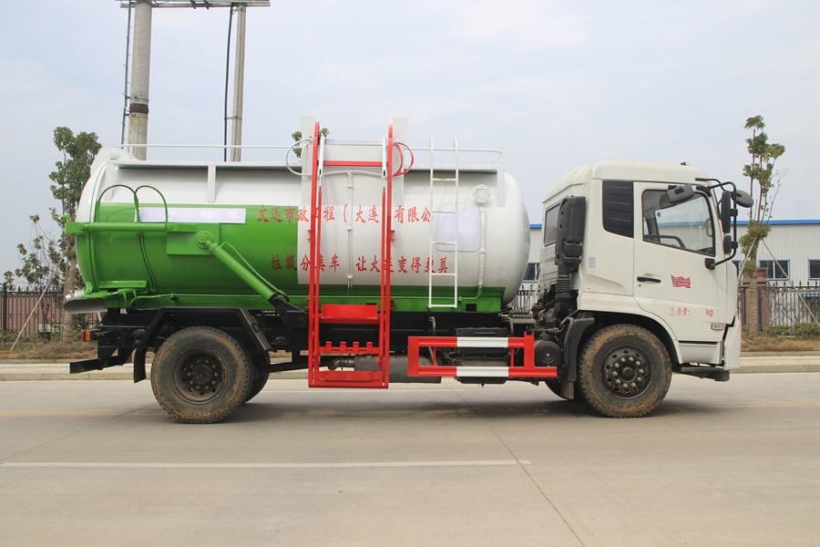 东风天锦餐厨式垃圾车右侧图片