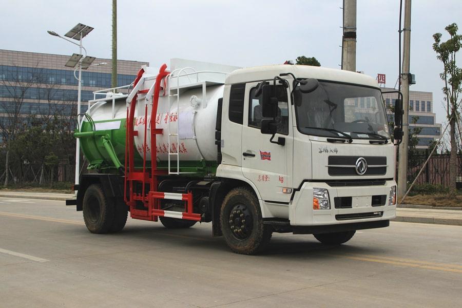 东风天锦餐厨式垃圾车右前侧图片