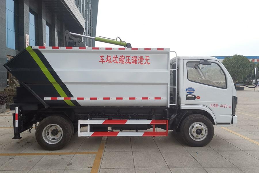 东风5方无泄漏压缩垃圾车右侧图片