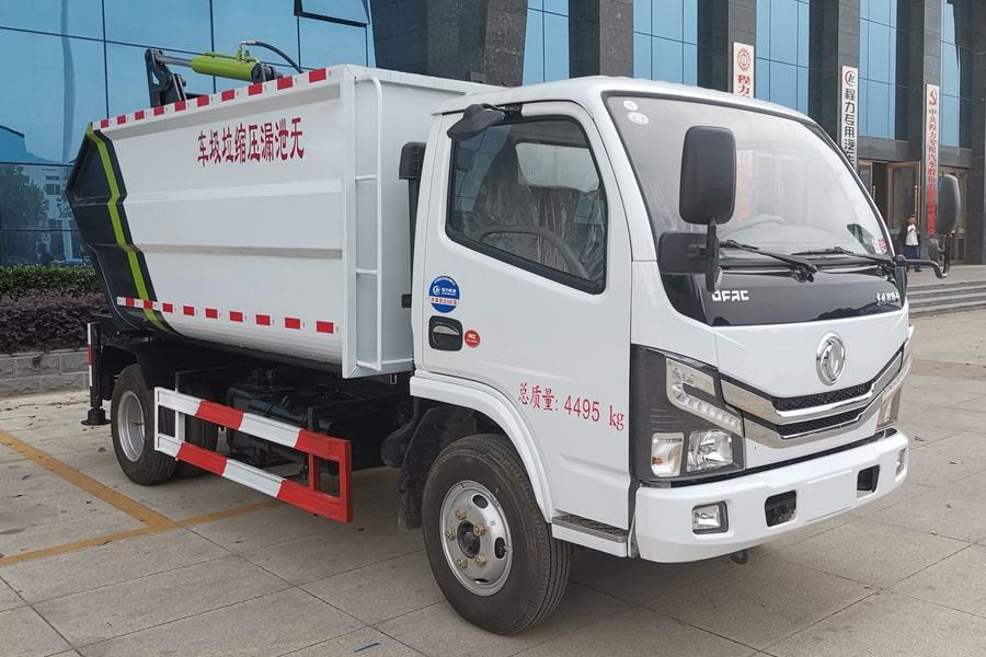 东风5方无泄漏压缩垃圾车右前侧图片