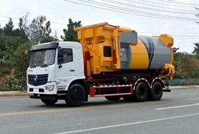 国六东风天龙车厢可卸式垃圾车
