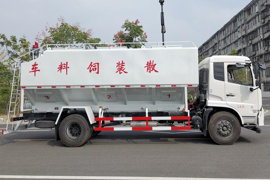 东风10吨散装饲料车右侧视角
