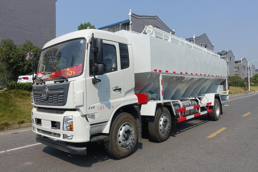 东风15吨散装饲料车左侧45°视角