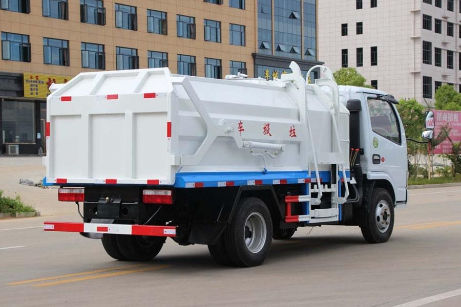 东风3吨对接式垃圾车右后侧图片