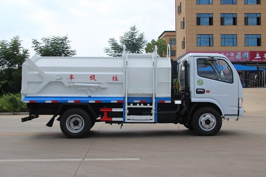 东风3吨对接式垃圾车右侧图片