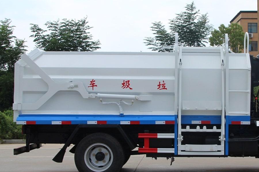 东风3吨对接式垃圾车上装右侧箱体图片
