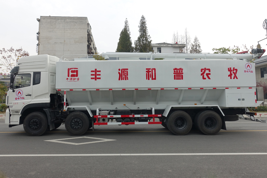 东风20吨散装饲料车左侧视角