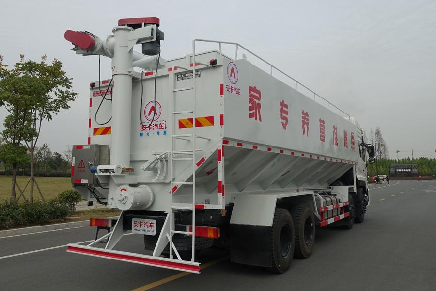东风20吨散装饲料车右后侧45°视角