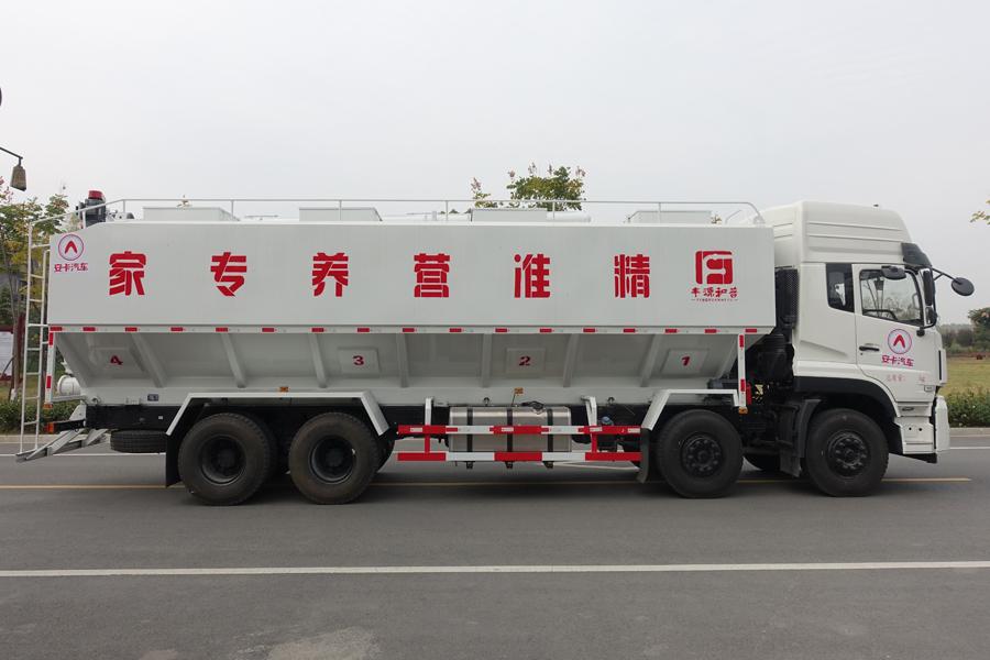 东风20吨散装饲料车右侧视角